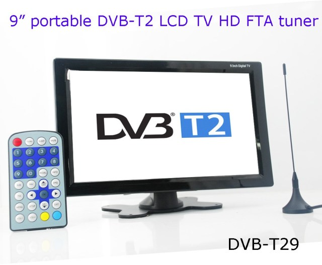 9 inch Car DVB-T2 H265 TV receiver
