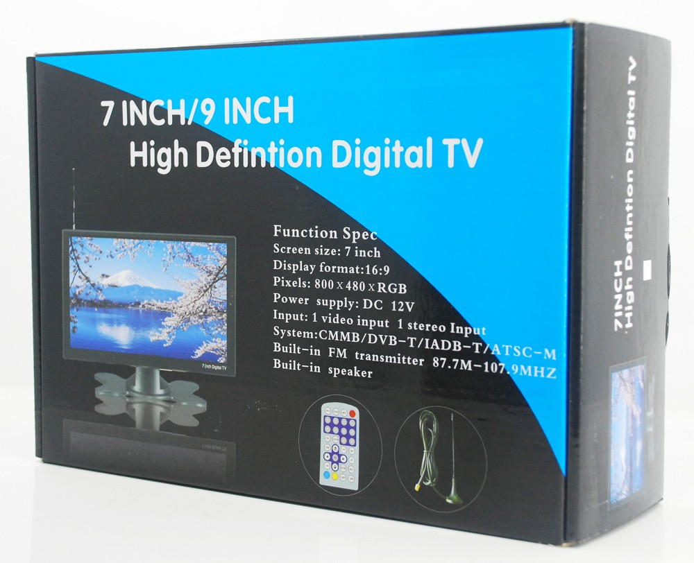 DVB T29 9 inch portable dvb t2 lcd TV monitor tuner 3 1