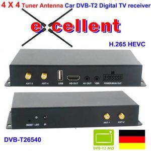 Deutschland Car DVB-T2 H265 4 Tuner