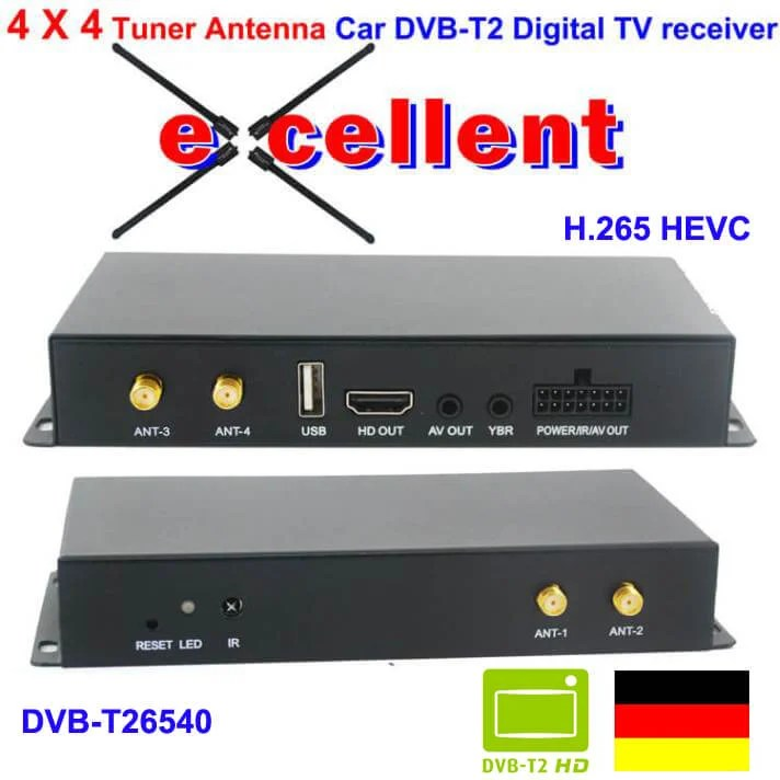 deutschland auto dvb t2 h265 4 tuner 4 diversity antenna. Black Bedroom Furniture Sets. Home Design Ideas
