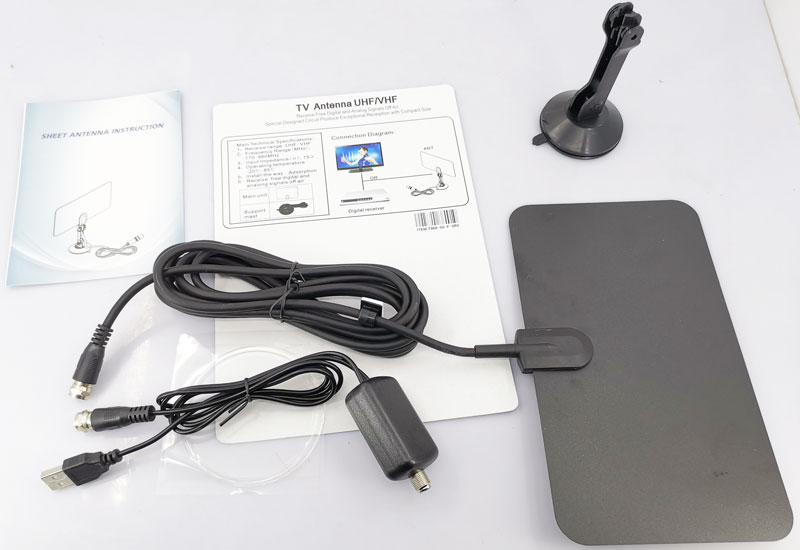 VCAN0992 Digital TV DVB-T2 UHF/VHF Flat antenna and No extra power required for home use 17 -