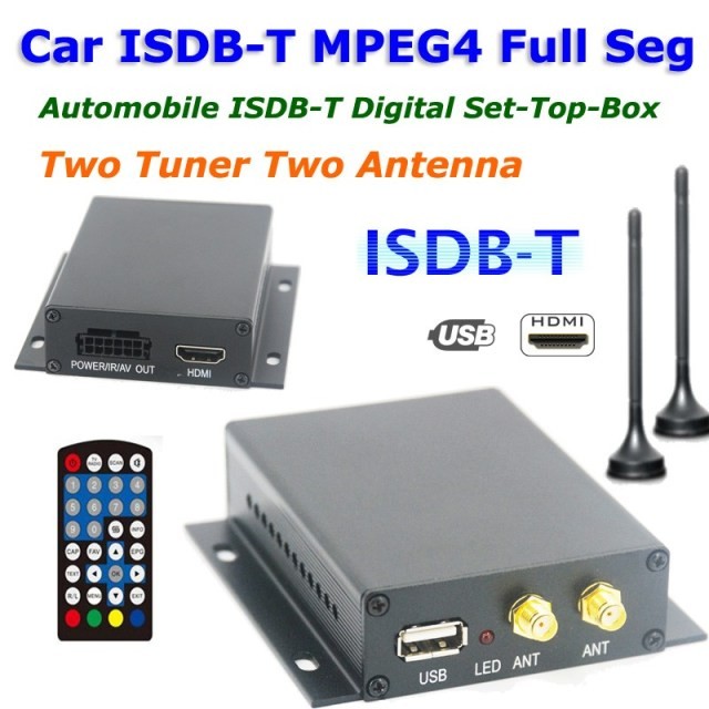 Japan car one seg ISDB-T digital tv receiver ISDB-T5800