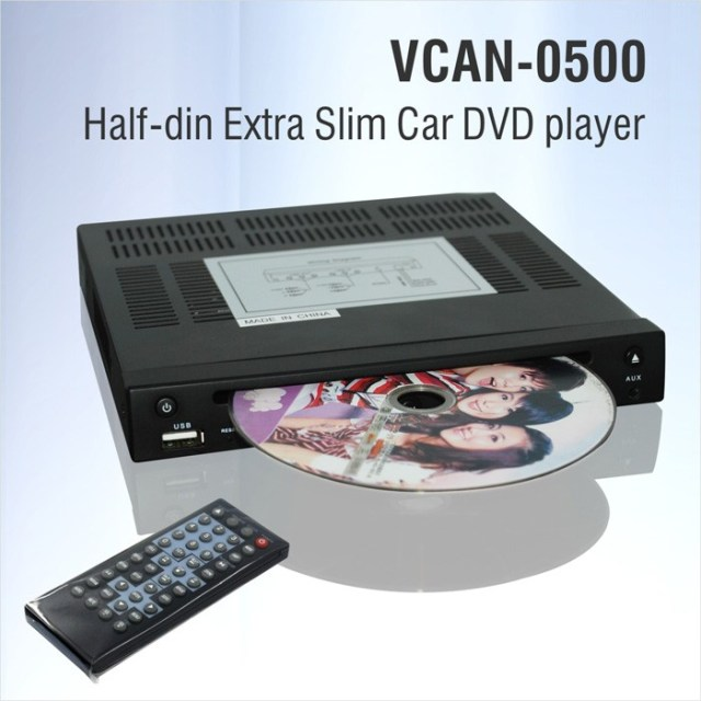 Half-din Extra Slim Car DVD player