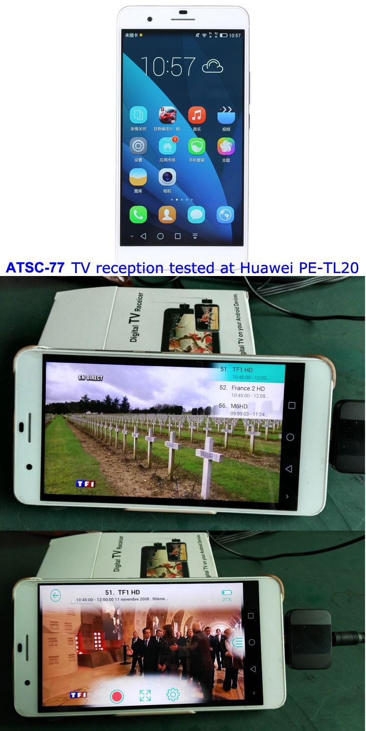 ATSC USB TV stick mobile phone use tuner USA Canada Mexico micro usb android phone pad ATSC-77 20 -