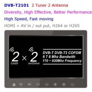 ความหลากหลาย DVB-T COFDM 10.1 นิ้ว