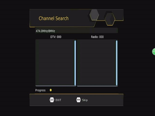 DVB-T265 Channel Auto Search OSD menu