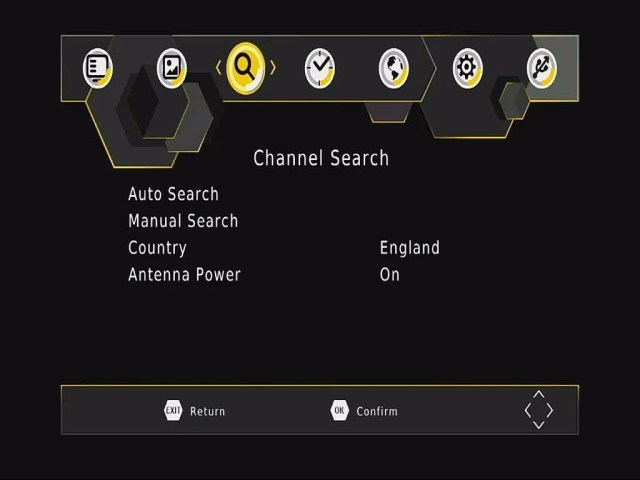 DVB-T265 Channel OSD menu