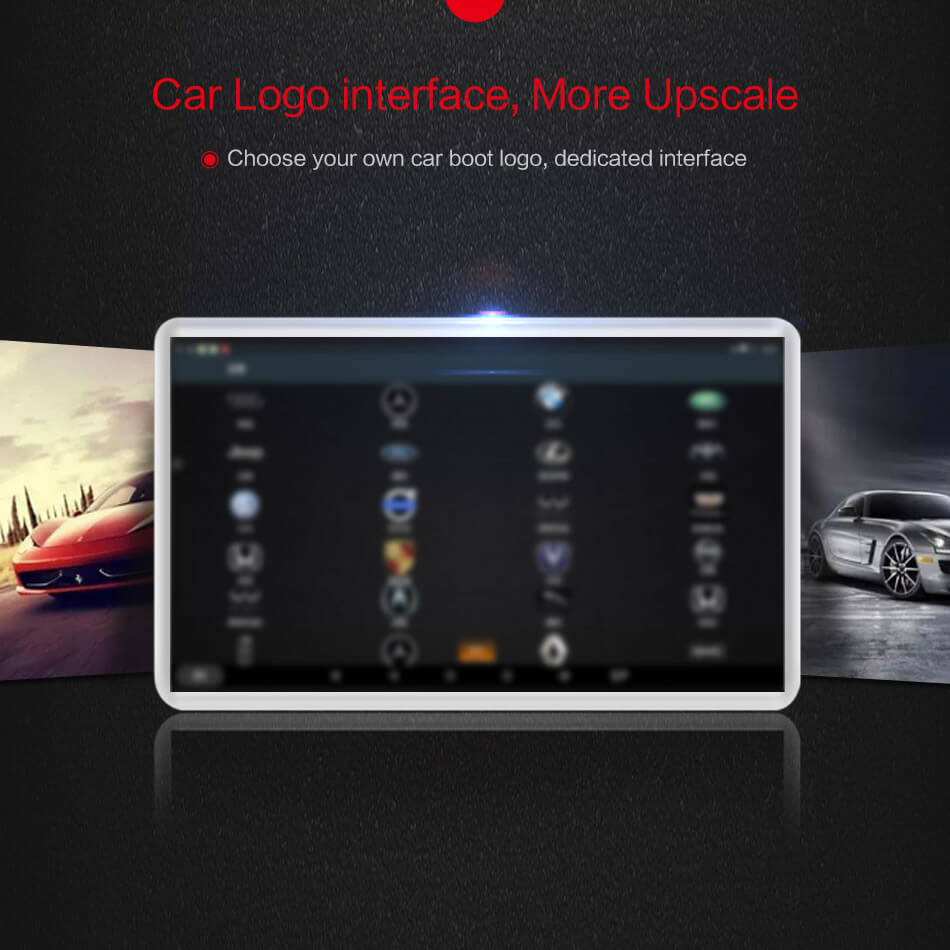 Vcan1533 11.6 android headrest player car logo change
