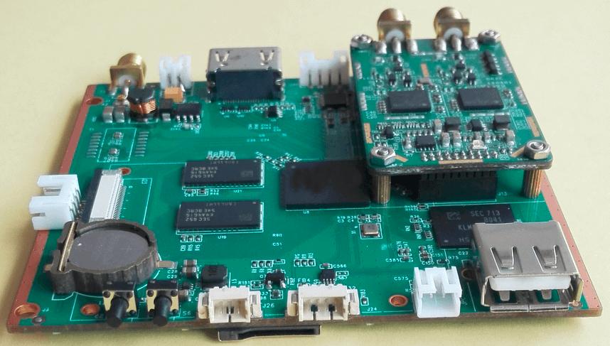 H.265 decoding play boardDR2C dual antenna COFDM receiver demodulation module