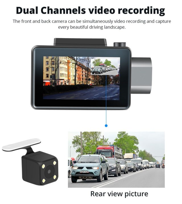 Android DVR dashcam car camera 3.0 inch full 1080 HD GPS logger dual camera video recorder Vcan1608 21 -