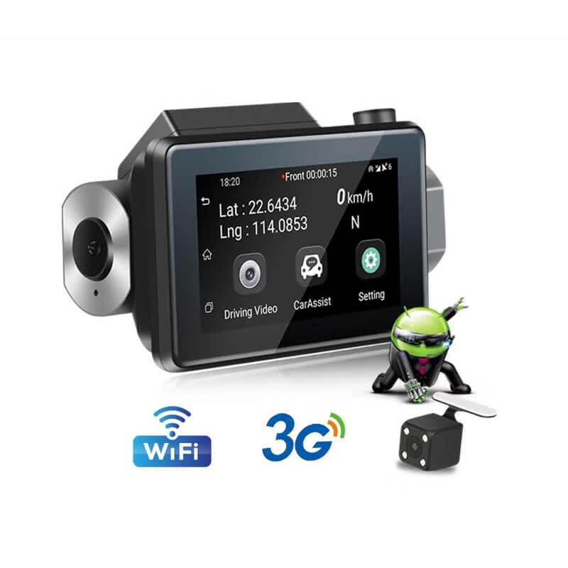 "10/"" Dual Lens 1080P 3G WiFi Android 5.1 Car Rearview Mirror DVR GPS Dash Camera"