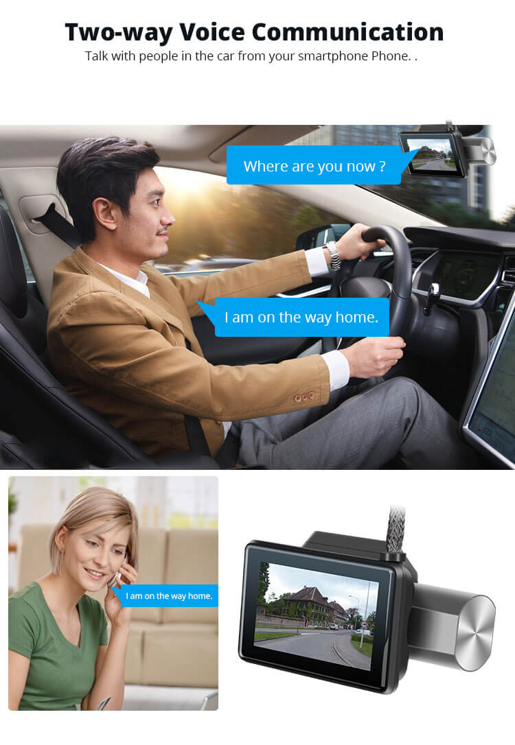 Android Dash Cam Car DVR Camera GPS Logger 3G WiFi Dual Lens WDR Video Recorder 5.1 Rearview camera Vcan1608 12 -