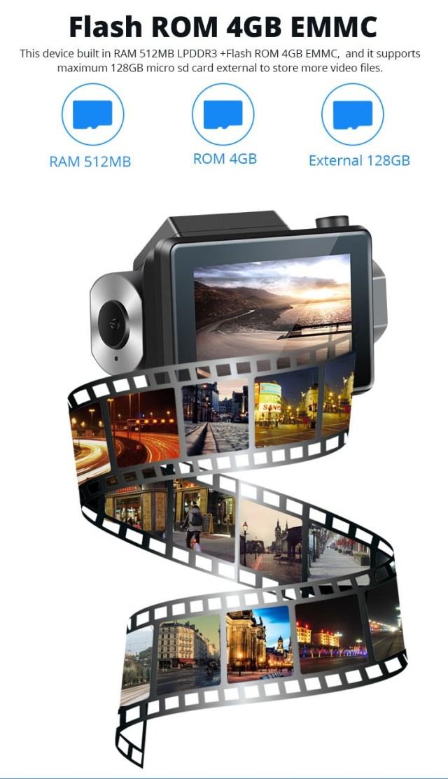 Android DVR dashcam car camera 3.0 inch full 1080 HD GPS logger dual camera video recorder Vcan1608 2 -