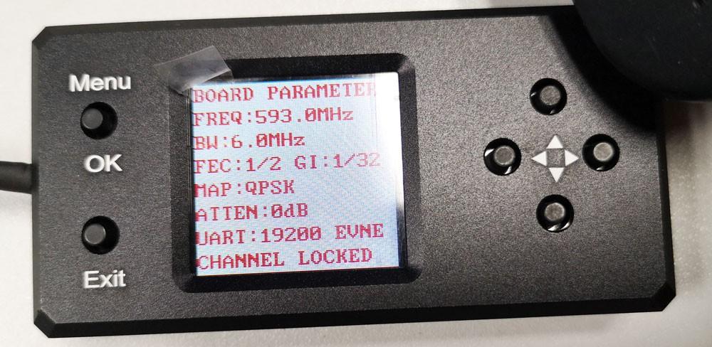 COFDM transmitter configure board