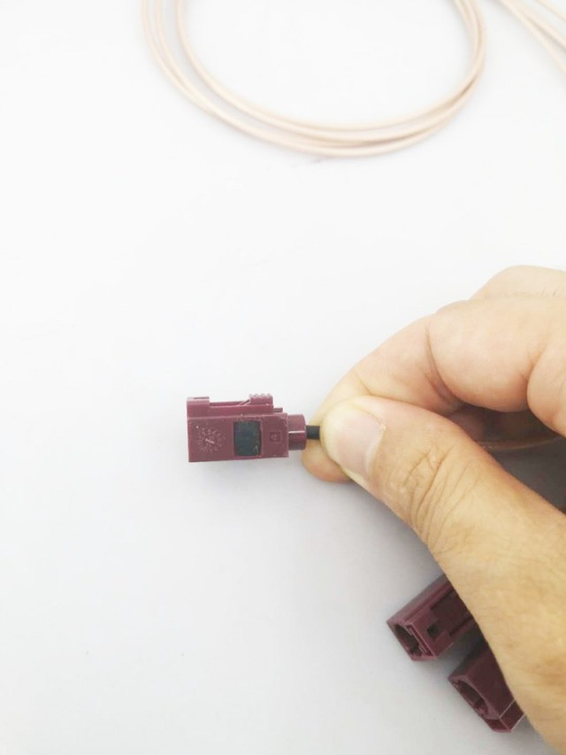 Male Fakra connector to Female Fakra jacket extension one-meter cable 2