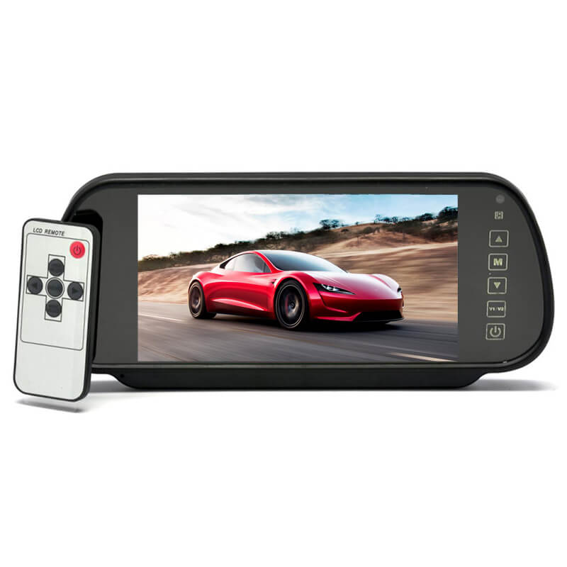 7 Inch Car Mirror Monitor Touch Button Auto Vehicle Parking Rear View Reverse HD Two inputs 5