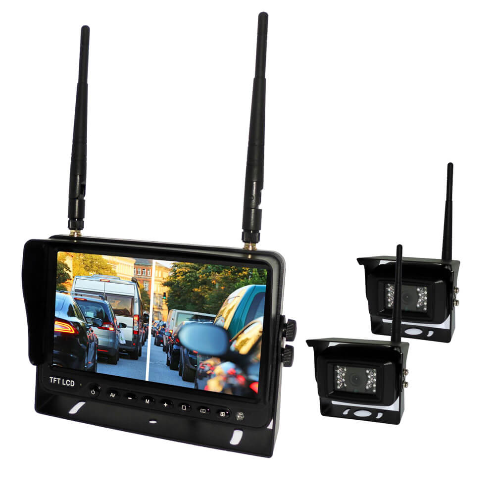7 inch Wireless DVR quad monitor camera for Truck vehicle with AHD 1280 Night Vision HD Wifi Camera SD card 2