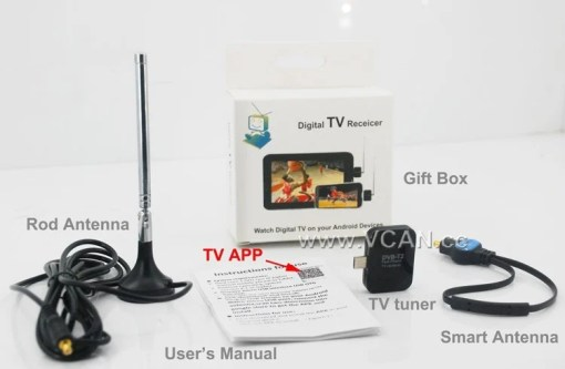 Mobile Phone DVB-T2 TV stick Tuner Receiver Micro USB for android pad digital 1