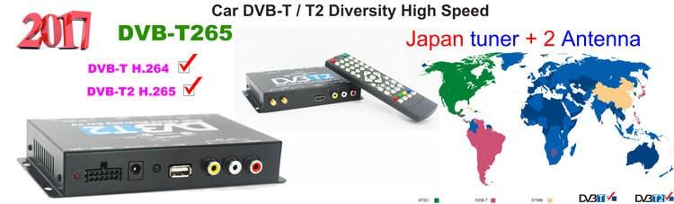 Germany DVB-T2 H.265 HEVC Codec New Model DVB-T265 auto mobile digital car dvb-t2 tv receiver 26