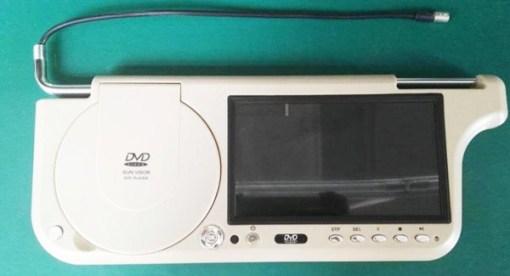 7 inch sun visor DVD player sunvisor left right side USB SD movie player black grey beige factory promotion TM-6686 7010 13