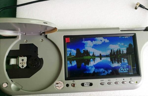 7 inch sun visor DVD player sunvisor left right side USB SD movie player black grey beige factory promotion TM-6686 7010 39