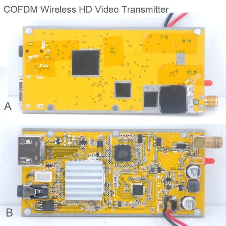 COFDM-T902T COFDM HD Wireless composite Video Transmitter 1080P CVBS SD 720P 5