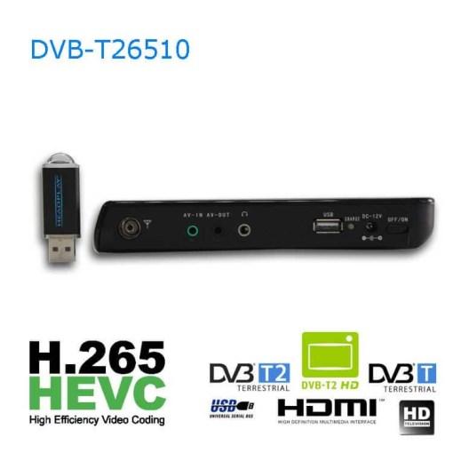 10 DVB-T2 H265 HEVC AC3 Codec Portable TV PVR Multimedia Player Analog kitchen bedroom car DVB-T26510 6