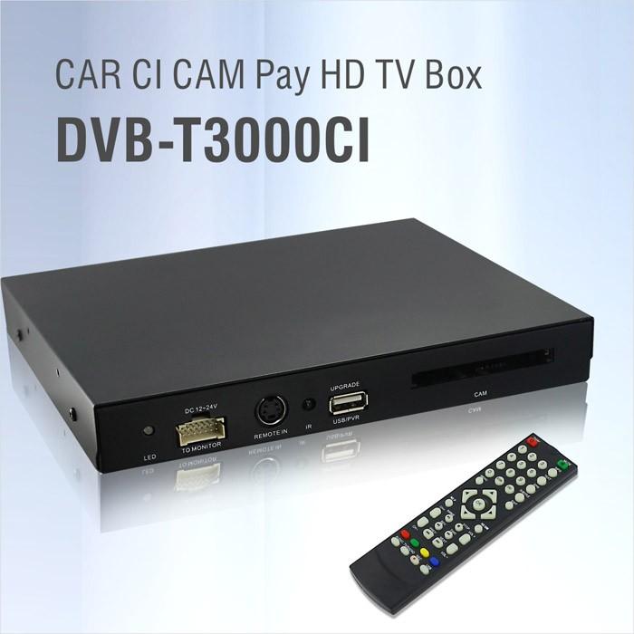 DVB-T3000CI HD Car DVB-T CI CAM card reader auto digital tv Slot DTV Europe TNT TDT CA 16