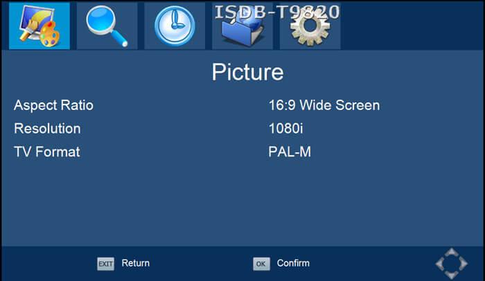 ISDB-T9820車ISDB-T 2つのチューナー2つのアンテナHD MPEG4テレビ受信機、ブラジルペルーチリコスタリカ 7