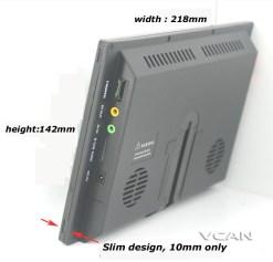 9 inch isdb-t full seg digital tv b-cas One tuner antenna FM transmitter ISDB-T9 8