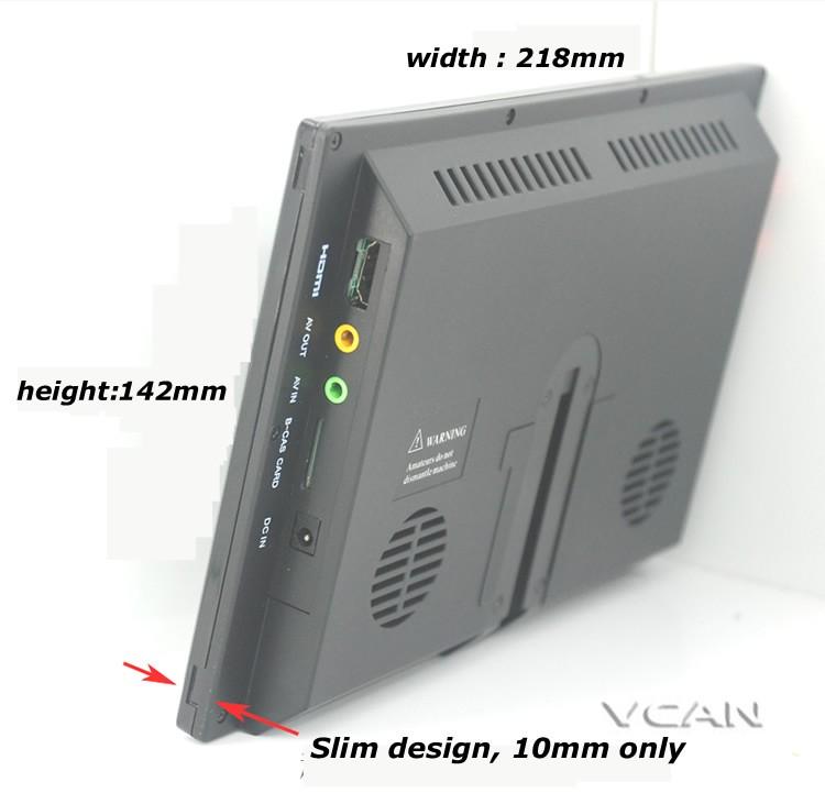 9 inch isdb-t full seg digital tv b-cas One tuner antenna FM transmitter ISDB-T9 12