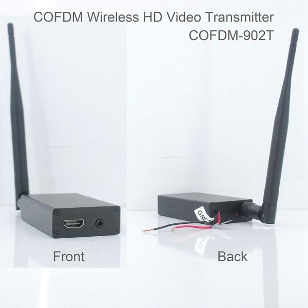 COFDM-902T COFDM HD Wireless composite Video Transmitter 1080P CVBS SD 720P 15