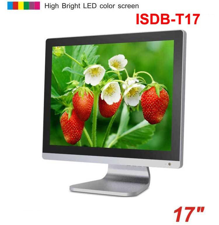 17 inch ISDB-T digital VGA LCD TV MPEG4 HD DTV with HDMI