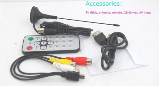 VCAN1010 USB Analog TV stick for PC 1 MINI AV input with VCD/DVD Player 4