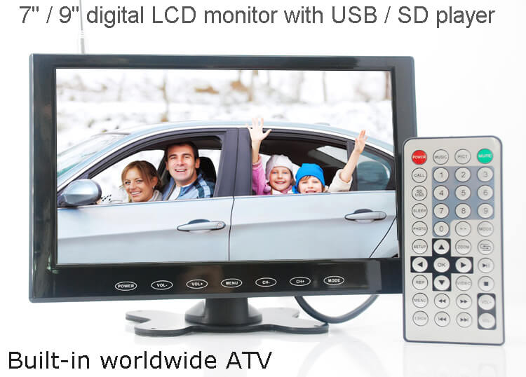 9 inch monitor with USB SD mp5 player Vcan0951 41