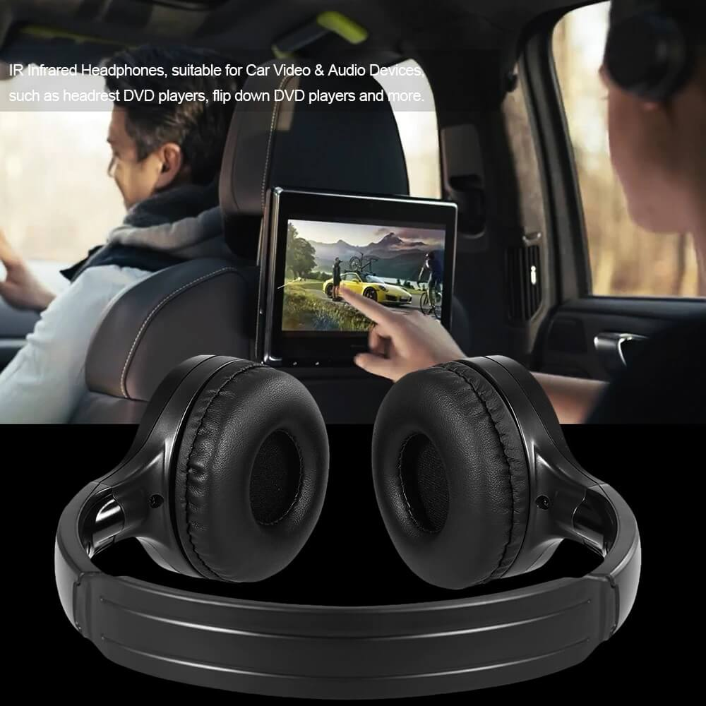wireless dual channel ir stereo headphone