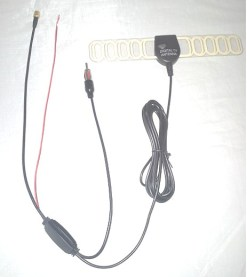 TV Radio Antenna DVB-T FM aerial built-in signal enlarger booster ANT-003FM 25db active amplified 5