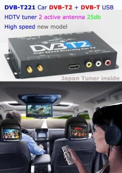 Car DVB-T2 DVB-T MULTI PLP Digital TV Receiver 13