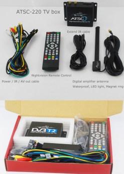 Car ATSC Digital TV receiver for USA Canada Mexico 12