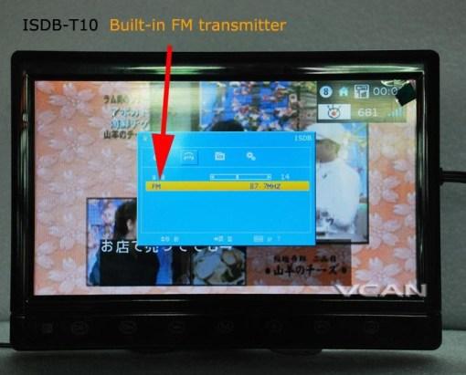 2 tuner 2 antenna isdb-t digital tv receiver 10.1 inch full segment digital TV receiver for Japan mini b-cas card reader high speed moving 10