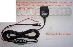 ANT-003A Digital TV DVB-T antenna aerial built-in signal enlarger booster 8