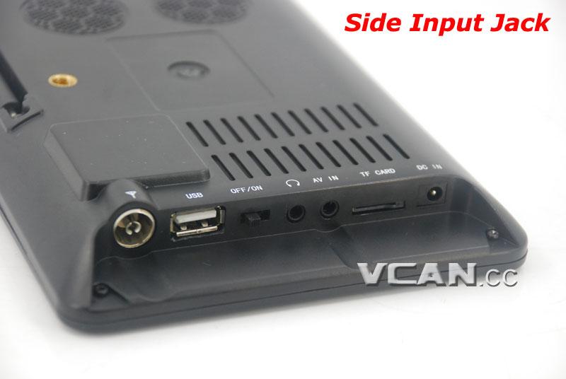 7 DVB-T2 7 inch Digital TV monitor Analog TV USB TF MP5 player AV in Rechargeable Battery 15