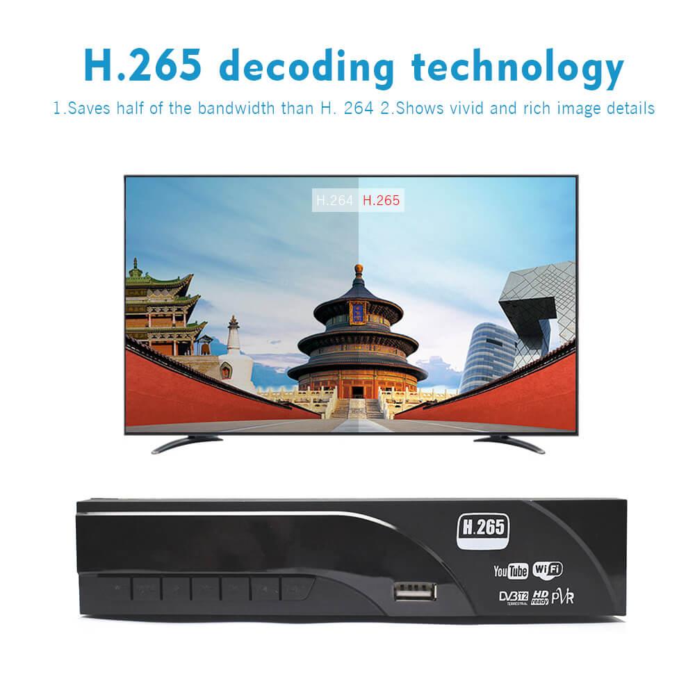 Home DVB-T2 H.265 HEVC H.264 DVB-T Receiver HDMI RCA Terrestrial Digital TV Receiver TV Tuner SCART MPEG4 22