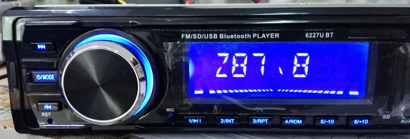 Mp3 Player Automotivo Ray X MP3-6227 Bluetooth Usb Sd 8