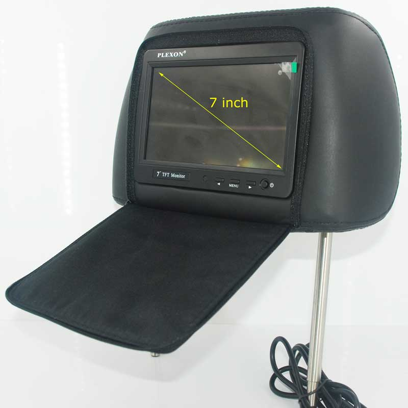 7 inch headrest monitor with pillow bag LED backlight cover zipper 21