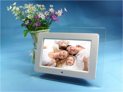Acrylic Frame Material 10 inch digital photo frame Video Playback MP3 Function VCAN1319 1