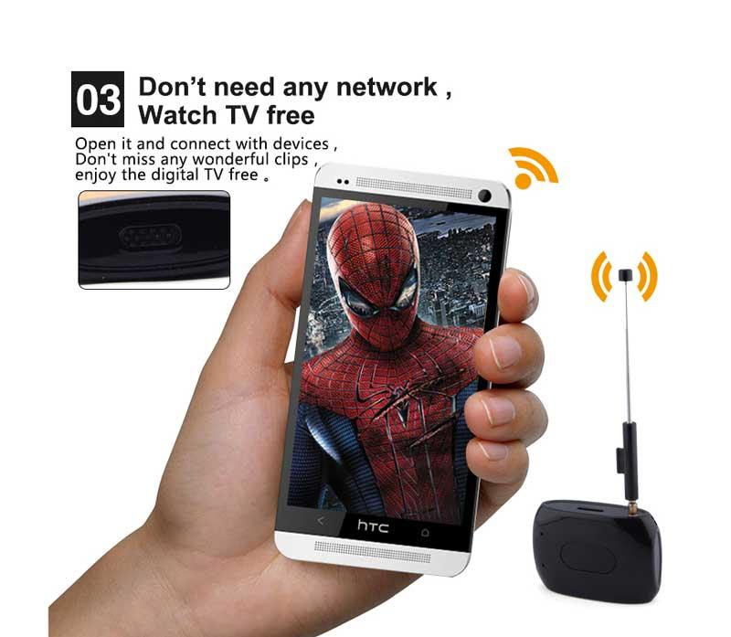 WiFi-TV1W digital TV wifi receiver dvb-t isdb-t for smartphone no need internet 22