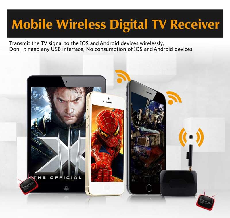 WiFi-TV1W digital TV wifi receiver dvb-t isdb-t for smartphone no need internet 18