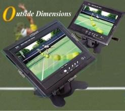 TM-7003A Car 7 inch TFT LCD Monitor 2CH Video Input rear view 6