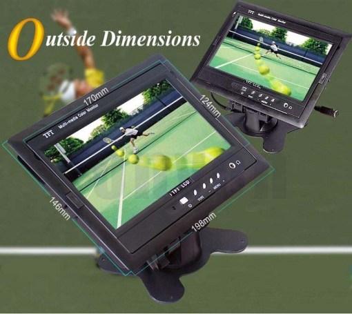 TM-7003A Car 7 inch TFT LCD Monitor 2CH Video Input rear view 3